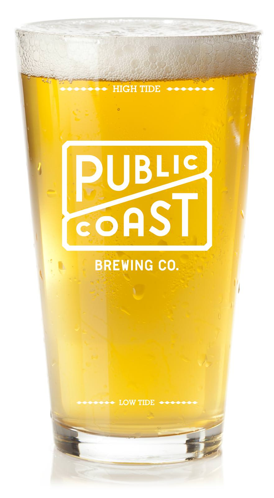 Public Coast Brewing pint of beer, Cannon Beach brewery